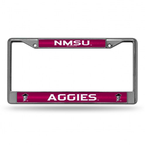 New Mexico State Aggies Chrome Glitter License Plate Frame