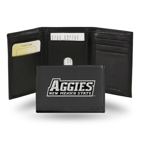 New Mexico State Aggies College Embroidered Leather Tri-Fold Wallet