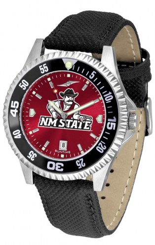 New Mexico State Aggies Competitor AnoChrome Men's Watch - Color Bezel