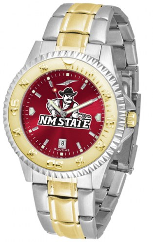 New Mexico State Aggies Competitor Two-Tone AnoChrome Men's Watch