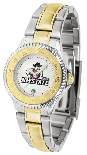 New Mexico State Aggies Competitor Two-Tone Women's Watch