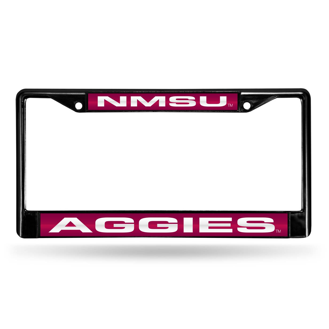 New Mexico State Aggies Laser Black License Plate Frame
