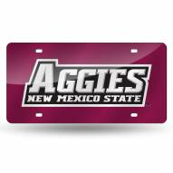 New Mexico State Aggies Laser Cut License Plate