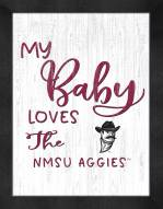 New Mexico State Aggies My Baby Loves Framed Print