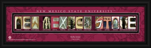 New Mexico State Aggies Personalized Campus Letter Art