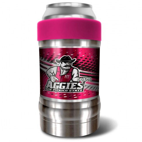 New Mexico State Aggies Pink 12 oz. Locker Vacuum Insulated Can Holder
