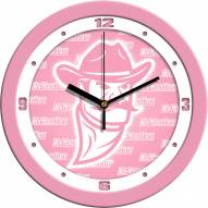 New Mexico State Aggies Pink Wall Clock