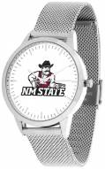 New Mexico State Aggies Silver Mesh Statement Watch