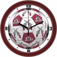 New Mexico State Aggies Soccer Wall Clock