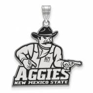 New Mexico State Aggies Sterling Silver Extra Large Enameled Pendant