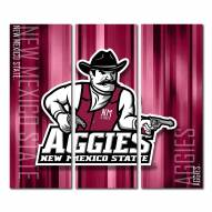 New Mexico State Aggies Triptych Rush Canvas Wall Art
