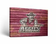 New Mexico State Aggies Weathered Canvas Wall Art