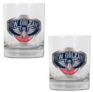 New Orleans Pelicans NBA 2-Piece 14 Oz. Rocks Glass Set