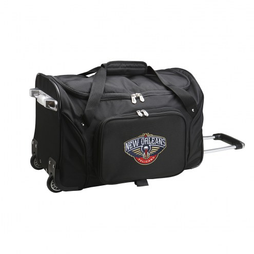 """New Orleans Pelicans 22"""" Rolling Duffle Bag"""