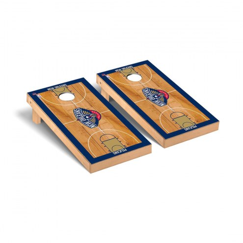 New Orleans Pelicans Basketball Court Cornhole Game Set