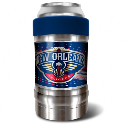 New Orleans Pelicans Blue 12 oz. Locker Vacuum Insulated Can Holder