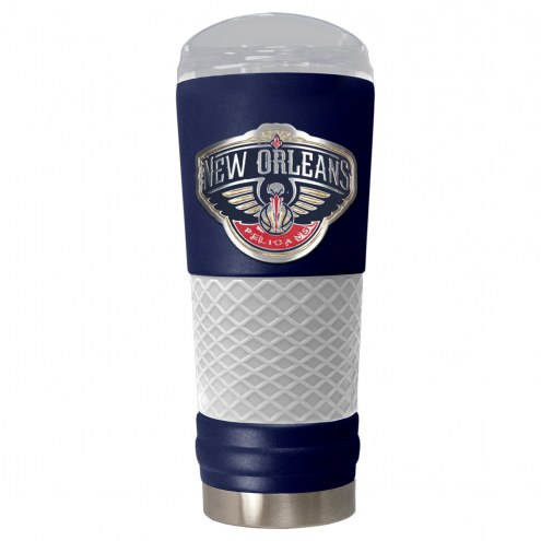 New Orleans Pelicans Blue 24 oz. Powder Coated Draft Tumbler