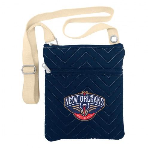 New Orleans Pelicans Chevron Stitch Crossbody Bag