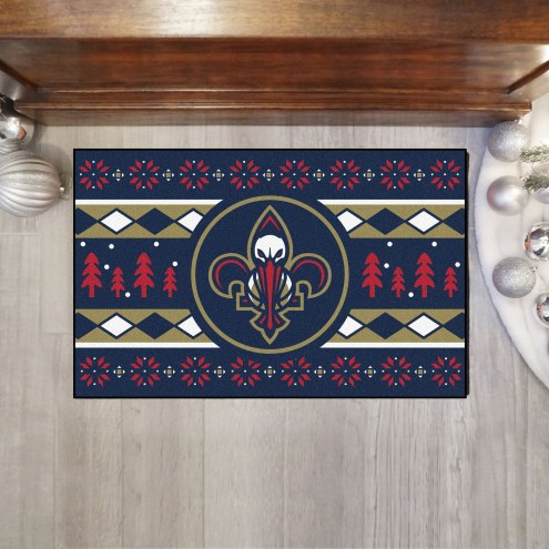 New Orleans Pelicans Christmas Sweater Starter Rug