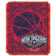 New Orleans Pelicans Double Play Woven Throw Blanket