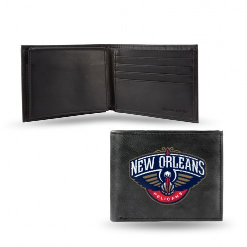 New Orleans Pelicans Embroidered Leather Billfold Wallet