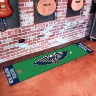 New Orleans Pelicans Golf Putting Green Mat