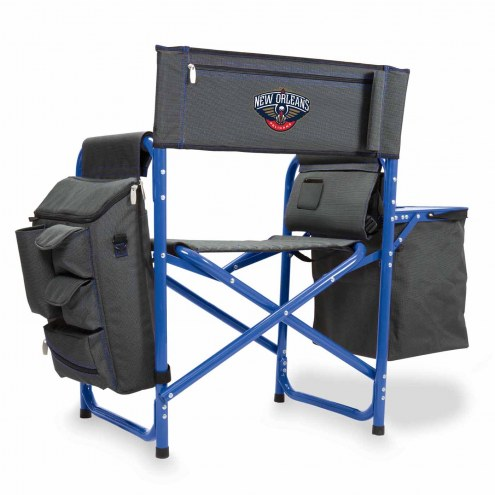 New Orleans Pelicans Gray/Blue Fusion Folding Chair