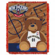 New Orleans Pelicans Half Court Baby Blanket