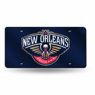 New Orleans Pelicans Laser Cut License Plate