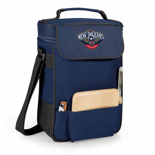 New Orleans Pelicans Navy Duet Insulated Wine Bag