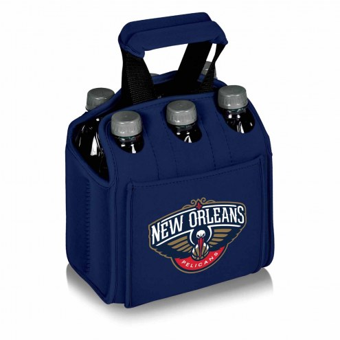 New Orleans Pelicans Navy Six Pack Cooler Tote