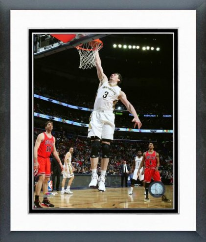 New Orleans Pelicans Omer Asik Action Framed Photo