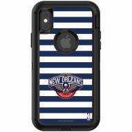 New Orleans Pelicans OtterBox iPhone X/Xs Defender Stripes Case