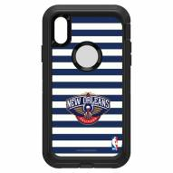 New Orleans Pelicans OtterBox iPhone XR Defender Stripes Case