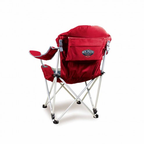 New Orleans Pelicans Red Reclining Camp Chair