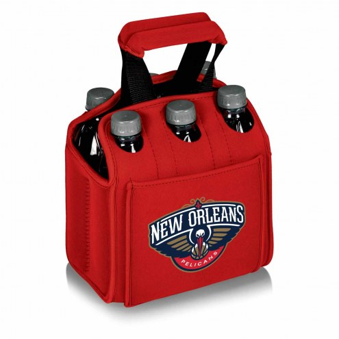 New Orleans Pelicans Red Six Pack Cooler Tote