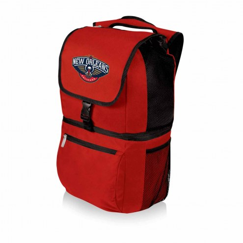New Orleans Pelicans Red Zuma Cooler Backpack