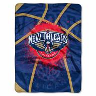 New Orleans Pelicans Shadow Play Plush Raschel Blanket