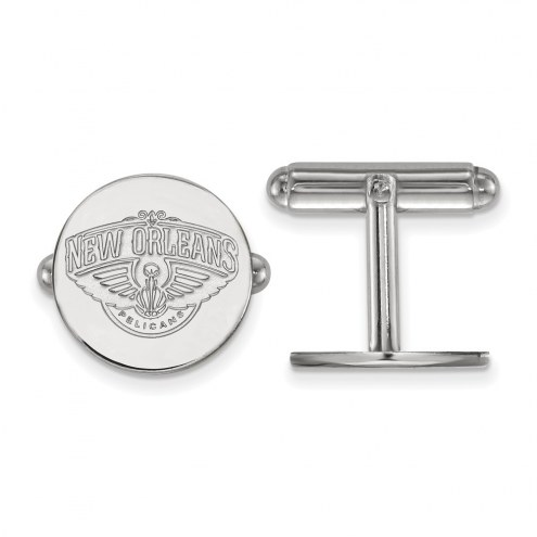 New Orleans Pelicans Sterling Silver Cuff Links