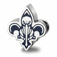 New Orleans Pelicans Sterling Silver Enameled Bead