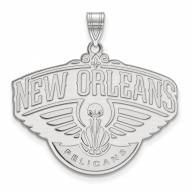 New Orleans Pelicans Sterling Silver Extra Large Pendant