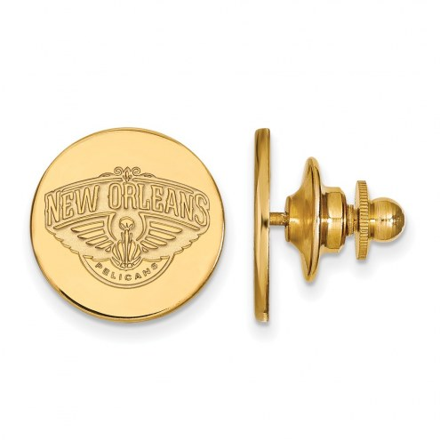 New Orleans Pelicans Sterling Silver Gold Plated Lapel Pin