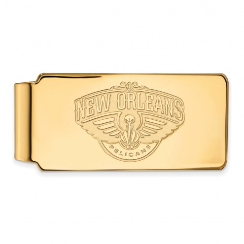 New Orleans Pelicans Sterling Silver Gold Plated Money Clip