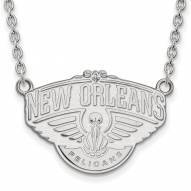 New Orleans Pelicans Sterling Silver Large Pendant Necklace