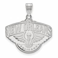 New Orleans Pelicans Sterling Silver Large Pendant