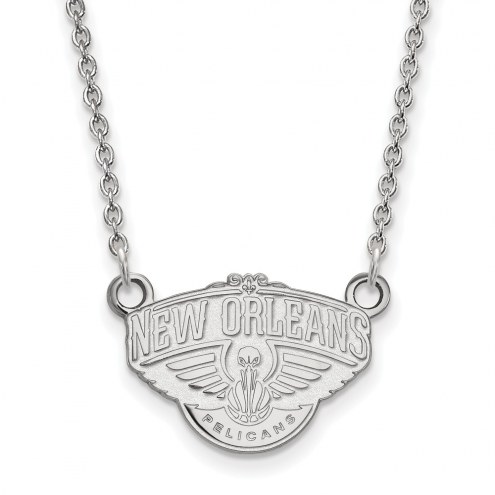 New Orleans Pelicans Sterling Silver Small Pendant Necklace