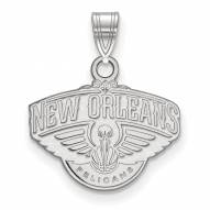 New Orleans Pelicans Sterling Silver Small Pendant