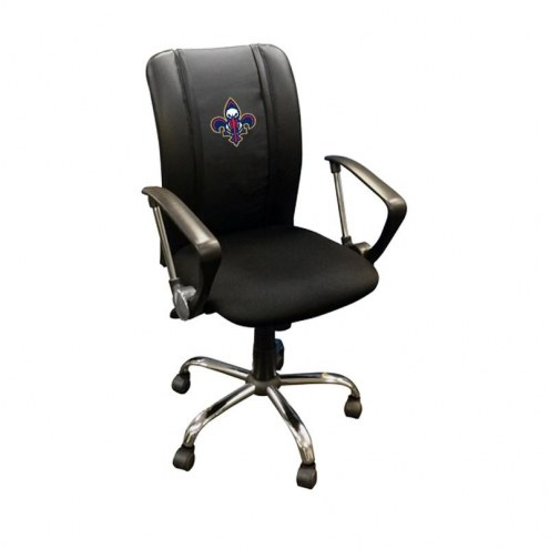 New Orleans Pelicans XZipit Curve Desk Chair with Secondary Logo
