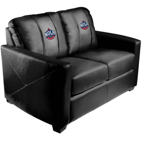 New Orleans Pelicans XZipit Silver Loveseat with NOLA Logo