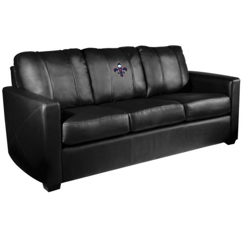 New Orleans Pelicans XZipit Silver Sofa with Secondary Logo